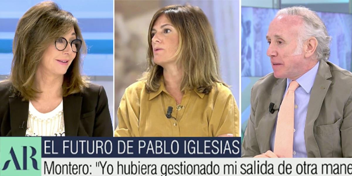 """Leña a Pablo Iglesias en Ana Rosa por machista: """"Me guiñó el ojo en una tertulia. ¡Es repugnante, vomitivo!"""""""