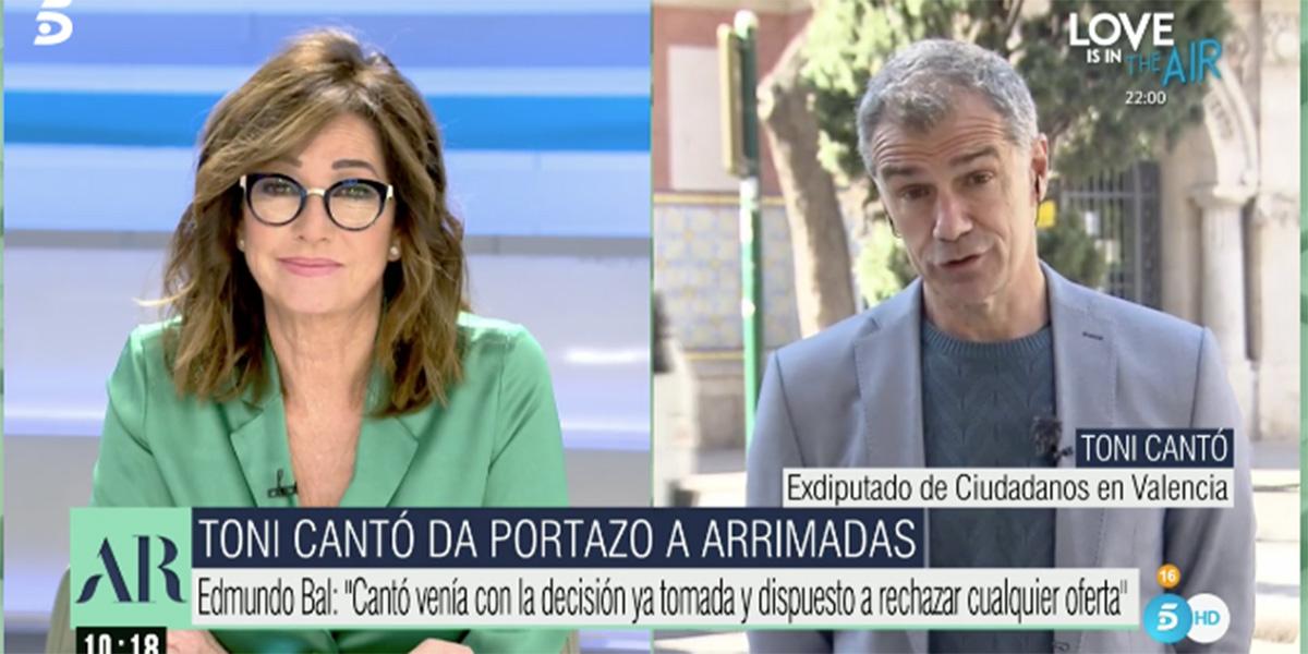 Toni Cantó devuelve un sonoro golpe a Edmundo Bal por acusarle de estar negociando con el PP