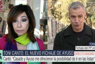"""Toni Cantó confirma a Ana Rosa cómo se gestó su fichaje por el PP: """"Admiro a Ayuso"""""""