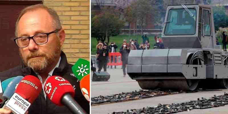 """El padre de Marta del Castillo abronca a Sánchez por destruir las armas de ETA: """"Se están eliminando pruebas"""""""