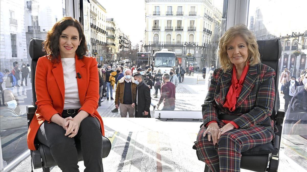 Atropellado estreno de María Teresa Campos en Telecinco: la actualidad deja caduca su entrevista a Ayuso