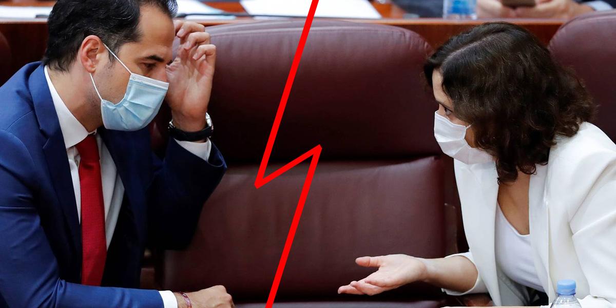 Díaz Ayuso (PP) se harta de las traiciones de Aguado (Cs) y convoca elecciones en Madrid
