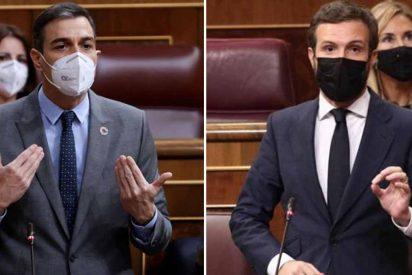 """La insolente reacción de Sánchez ante el enorme repaso de Casado: """"¿Se ha quedado usted a gusto?"""""""