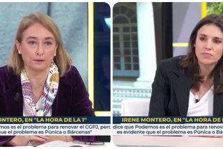 Irene Montero se parapeta en un paupérrimo argumento para no responder a la pregunta sobre su niñera-asesora