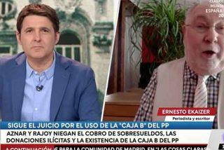"""Ekaizer monta un tribunal paralelo en TVE y Cintora encantado: """"¡Aznar está condenado!"""""""