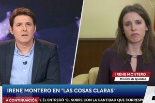 Cintora 'se olvida' de todas las preguntas que los españoles realmente quieren hacerle a Irene Montero