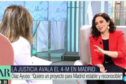 """Díaz Ayuso, a Ana Rosa: """"¿A ti te han llamado fascista alguna vez? Entonces estás en el lado bueno de la Historia"""""""