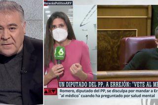 """Ferreras monta una cacería improvisada al diputado del PP que insultó a Errejón: """"Yo no le acepto las disculpas"""""""