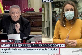 Es diputada de la CUP en el Congreso pero no condena la violencia callejera en Barcelona... ¡Y Ferreras traga!