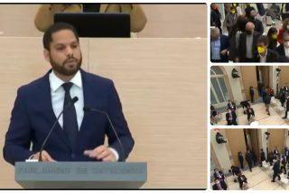 Los separatistas catalanes perpetran una espantada en el turno de palabra de Ignacio Garriga (VOX)