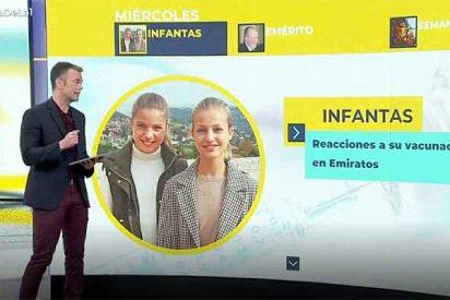 Otra intolerable agresión contra la princesa Leonor y Sofía: TVE coloca su foto en la noticia de la vacunación de sus tías