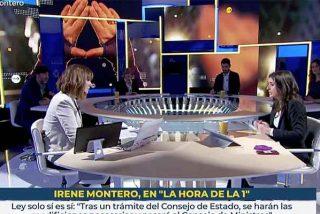 """Así 'sufre' Mónica López para 'entrevistar' a la ociosa Irene Montero: """"Le tengo que preguntar por la vacunación de las infantas..."""""""