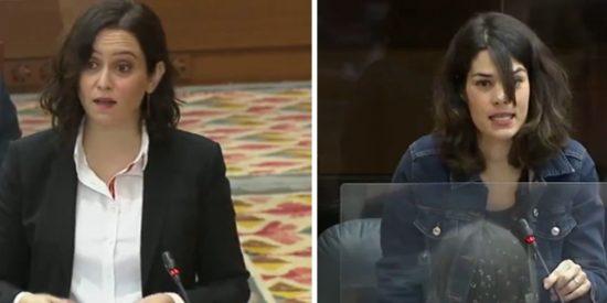 """Ayuso vuelve a derrotar a Podemos: """"No entiendo que alguien que es feminista, por ser la mujer del vicepresidente, dirija un ministerio"""""""