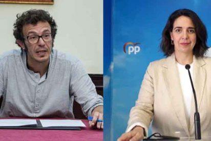 """El podemita José María González 'Kichi' silencia el micrófono de una concejal del PP: """"¡Calladita!"""""""