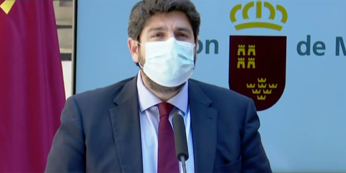 """López Miras confirma la victoria del PP en Murcia: """"La traición no puede triunfar"""""""