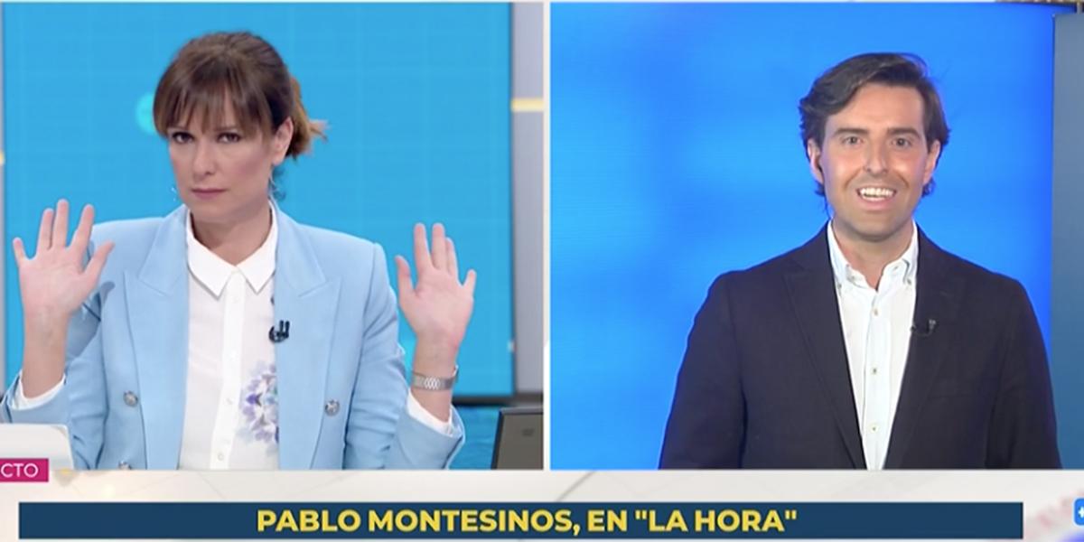 """Pablo Montesinos sacude en la boca a Mónica López: """"Lo reitero por tercera vez, por si no me ha entendido bien..."""""""