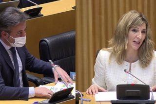 """Un diputado del PP hunde a Yolanda Díaz: """"Las mujeres solo suben en Podemos si se agarran fuerte a una coleta"""""""
