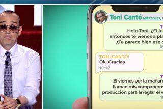 Toni Cantó engañó a Risto Mejide y el publicista se venga sacando los mensajes privados que intercambiaron con él
