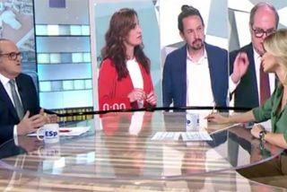 Griso recibe a Gabilondo con un vídeo sobre sus incoherencias y deja al candidato del PSOE balbuceando