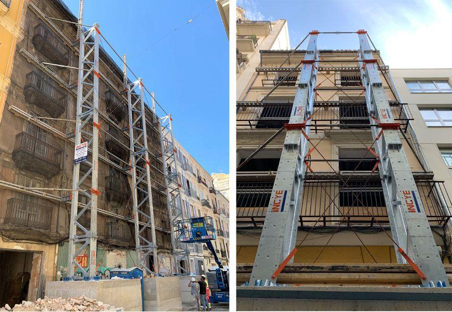 El último avance de los estabilizadores de fachada logra mantener el valor arquitectónico de los edificios