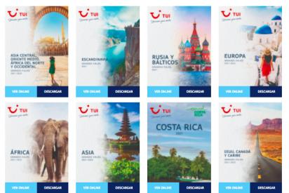 TUI refuerza su programación para 2021-2022 publicando nuevos catálogos de grandes viajes y monográficos