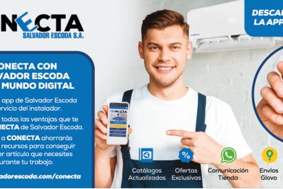 Salvador Escoda S.A lanza ConEcta, la primera web-app al servicio del instalador que ofrece entre otras ventajas envíos Glovo y WhatsApp