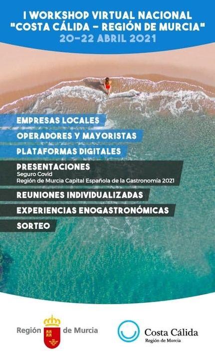 El I Workshop Virtual 'Costa Cálida-Región de Murcia' concluye con 500 citas de negocio