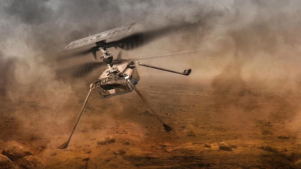 El helicóptero Ingenuity de la NASA sobrevuela con éxito la superficie de Marte