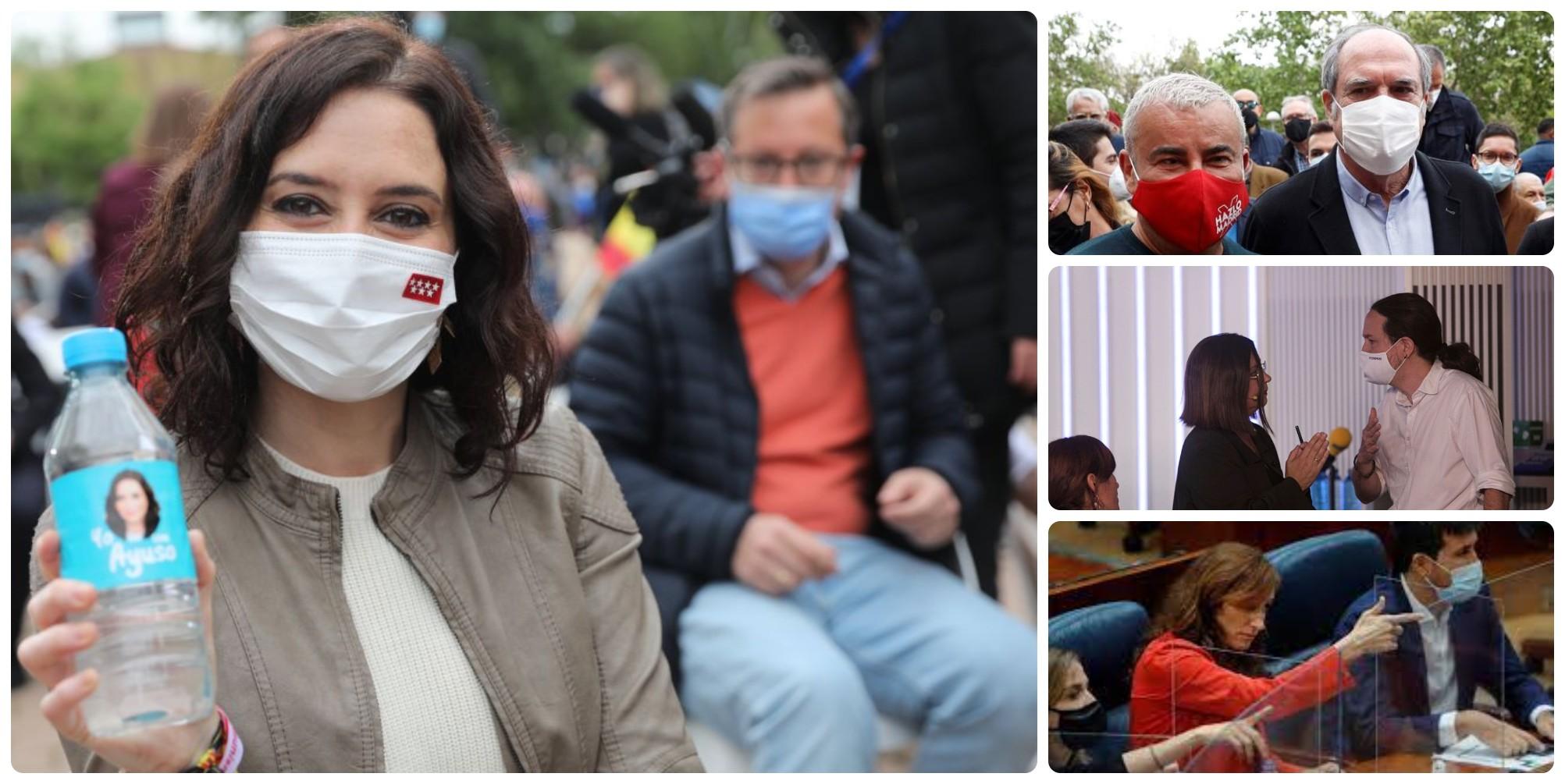 Ayuso, al borde de la mayoria absoluta: ni los lloros de Iglesias o el apoyo de Jorge Javier levantan a PSOE-Podemos