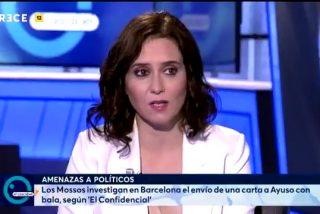 Mandan una carta con 2 balas a Ayuso y la presidenta de Madrid da 100 lecciones a Iglesias