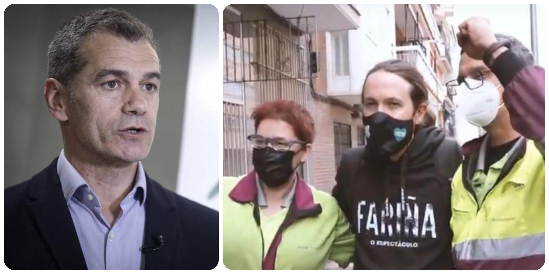 """Cantó entra en campaña y carga contra Iglesias: """"Vuelve a Vallecas un millón de euros más rico"""""""