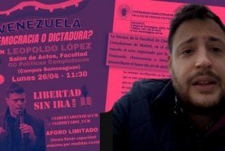 """Álvaro Vara Ruiz: """"La UCM nos dijo que llevemos a Leopoldo López a otra facultad que no fuera Políticas"""""""