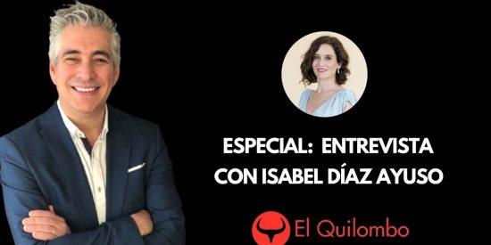 """Especial Quilombo / Alfonso Rojo entrevista a Isabel Díaz Ayuso: """"¿Piensa cerrar Telemadrid?"""""""
