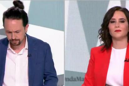"""Una diputada se burla de Iglesias por el magistral 'zasca' de Ayuso en el debate: """"En toda la cara"""""""