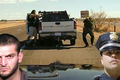 La cámara del coche patrulla graba el instante en que el traficante de drogas asesina al policía
