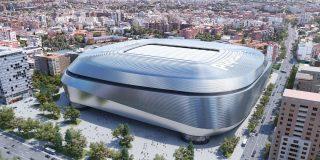 Real Madrid: momento en que colocan una pieza de 800 toneladas para el techo retráctil del estadio Santiago Bernabéu