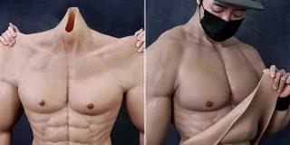 Los chinos lanzan al mercado un traje hiperrealista que te permite parecer un 'musculitos' de gimnasio