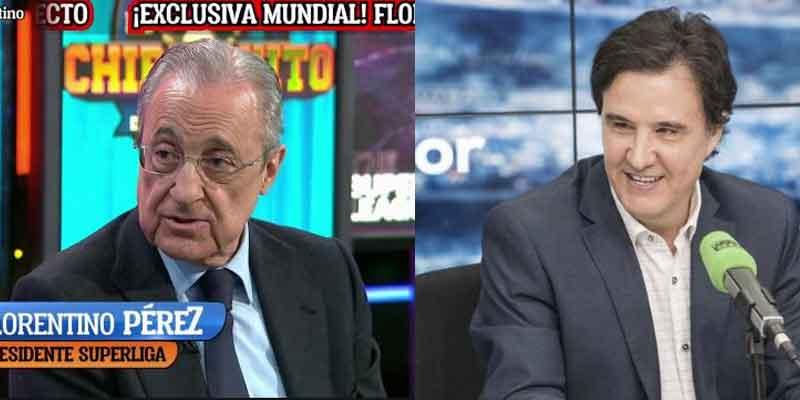 """De la Morena echa un jarro de agua fría sobre Pedrerol: """"Florentino entiende que allí le van a defender"""""""