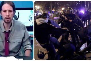 """El histérico Iglesias esconde un violento pasado: de jalear la paliza a un Policía a """"cazar fachas"""""""