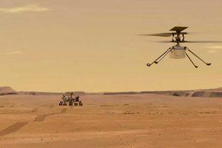 El helicóptero Ingenuity vuela por sí mismo 39 segundos y hasta 3 metros de altura en Marte