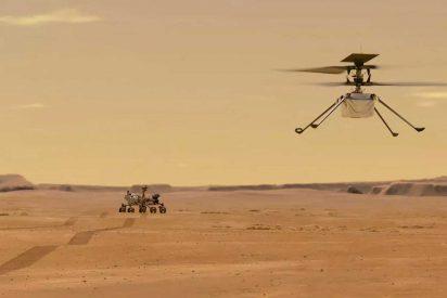 El impresionante vuelo del helicóptero Ingenuity a través de un terreno hostil en Marte