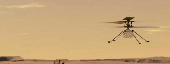 El helicóptero Ingenuity logra romper su propio récord en su décimo vuelo en Marte