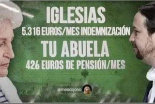 """VOX trolea a Podemos con su cartel de los MENAS: """"Iglesias, 5.316 € al mes, tu abuela, 426 €"""""""