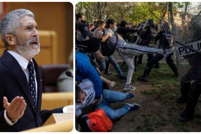 Marlaska, con mucho retraso, detiene a 5 de los agresores que hirieron a 20 policías en el mitin de VOX