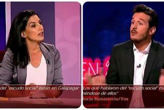 """Monasterio (VOX) sopapea a Losada (TVE) por esta impertinencia: """"¿Se sienten responsables por lo de Vallecas?"""""""