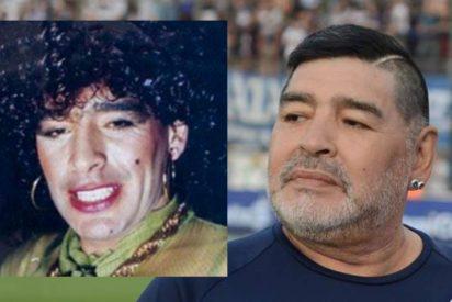 La vida loca de Maradona: cuando el astro del fútbol bailaba sexy con los labios pintados y vestido de mujer