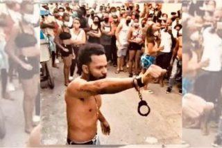 Los vecinos se enfrentan a los esbirros de la dictadura cubana e impiden el arresto del rapero Maykel Osorbo