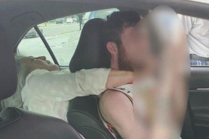 Una desquiciada pasajera intenta estrangular y morder a un conductor de Uber