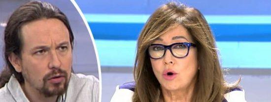 """Ana Rosa Quintana sacude a Pablo Iglesias: """"Señalar periodistas es cobarde y totalitario"""""""