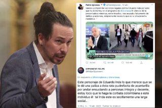 @FelipeOpponent, el tuitero enamorado de Iglesias al que Podemos sigue en redes, pide asesinar a Inda